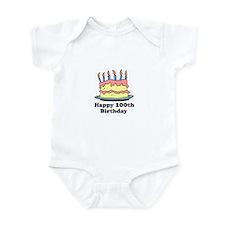 Happy 100th Birthday Infant Bodysuit
