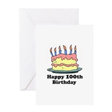 Happy 100th Birthday Greeting Card