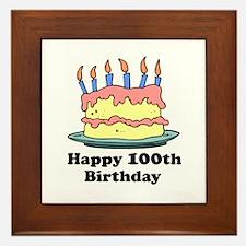 Happy 100th Birthday Framed Tile