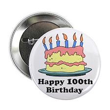 Happy 100th Birthday Button