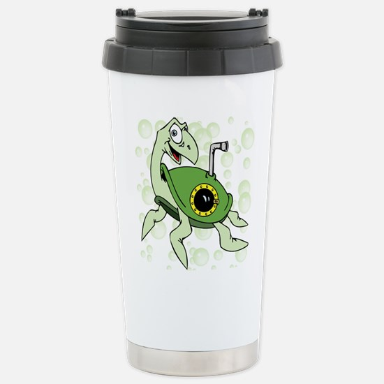 Turtle with Bubbles Stainless Steel Travel Mug