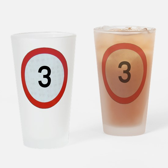 Speed sign 3 Drinking Glass