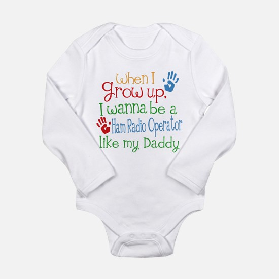 Ham Radio Operator Lik Long Sleeve Infant Bodysuit