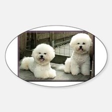 bichon frise group Decal