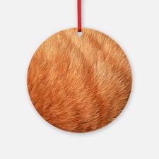 Close-up of Cat Fur Round Ornament
