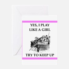play ike a girl Greeting Cards