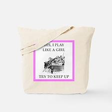 play ike a girl Tote Bag