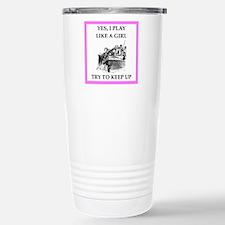 play ike a girl Travel Mug