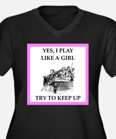 play ike a girl Plus Size T-Shirt