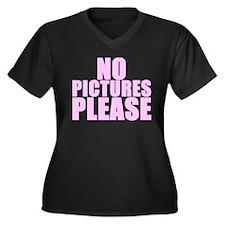 NP PICTURES PLEASE Women's Plus Size V-Neck Dark T