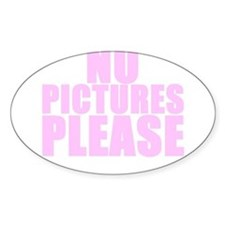 NP PICTURES PLEASE Oval Decal