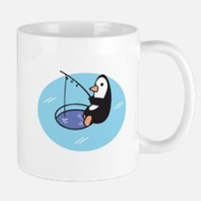 Cute Ice Fishing Penguin Mug