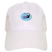 Cute Ice Fishing Penguin Baseball Cap