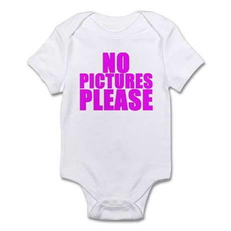 NO PICTURES PLEASE Infant Bodysuit