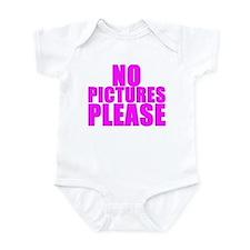 NO PICTURES PLEASE Infant Bodysuit