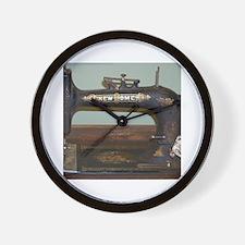 Unique Vintage sewing machine ad Wall Clock
