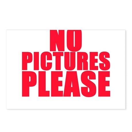 NO PICTURES PLEASE Postcards (Package of 8)