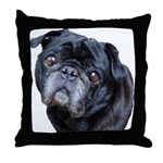 BJ Pug Throw Pillow