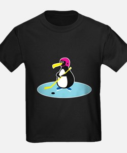 Cute Hockey Playing Penguin T
