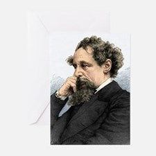Charles Dickens, English author Greeting Cards