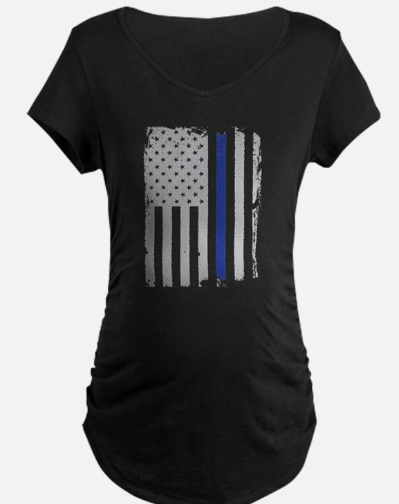 Thin Blue Line Flag Maternity T-Shirt