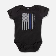 Thin Blue Line Flag Baby Bodysuit