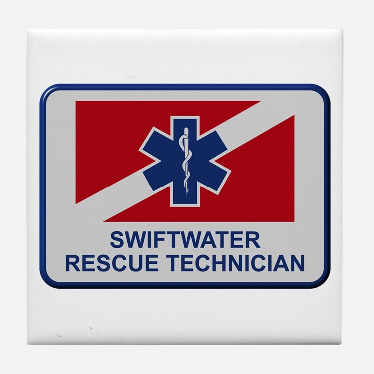 Cute Water rescue Tile Coaster