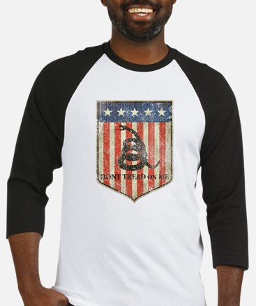 dont tread on me distressed Baseball Jersey