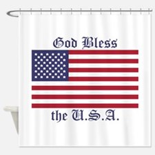 God Bless the USA Shower Curtain