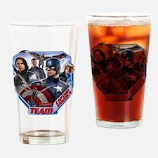 Captain America Team Drinking Glass