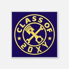 "Class of 20?? Automotive Square Sticker 3"" x 3"""