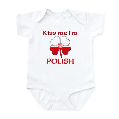 Kiss Me I'm Polish Infant Bodysuit