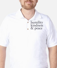 humility, kindness and peace Golf Shirt