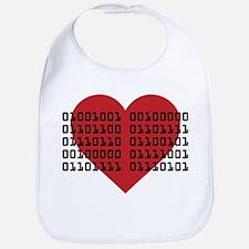 I Love You in Binary Code Bib