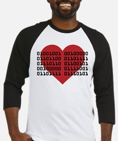 I Love You in Binary Code Baseball Jersey