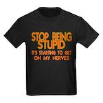 Getting On My Nerves Kids Dark T-Shirt