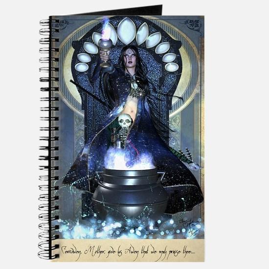 Mystic Cerridwen Prayer Grimoire Journal