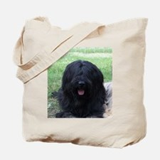 briard black Tote Bag