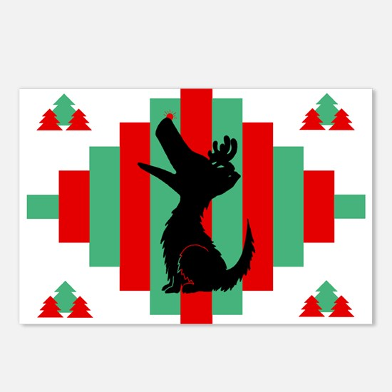 Sheltie Christmas Postcards (Pk of 8)