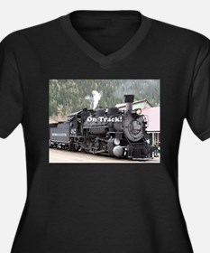 On Track: Steam train engine, Co Plus Size T-Shirt