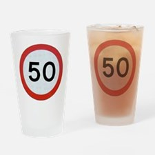 Speed sign 50 Drinking Glass