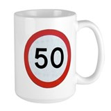 Fiftieth Large Mugs (15 oz)