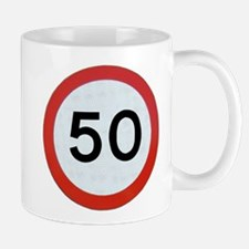 Speed sign 50 Mugs