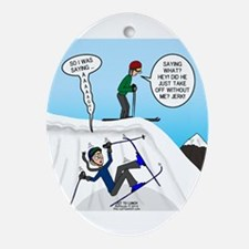 Ski Fall Oval Ornament