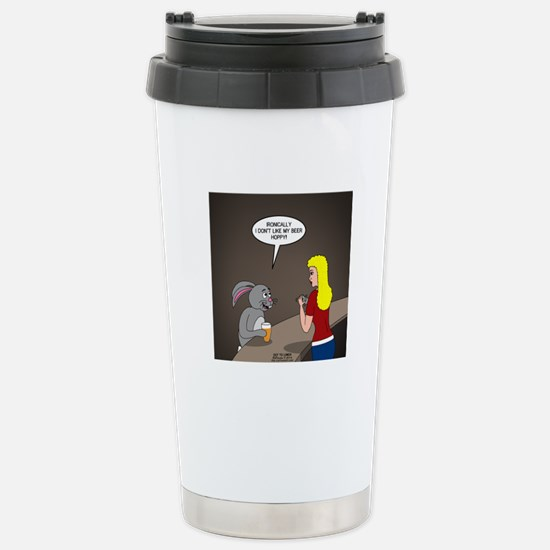 Bunny Hops Stainless Steel Travel Mug