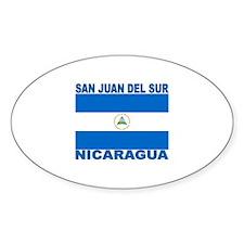 San Juan Del Sur, Nicaragua Oval Decal