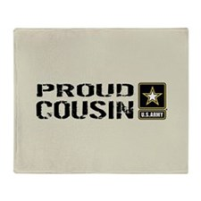 U.S. Army: Proud Cousin (Sand) Throw Blanket