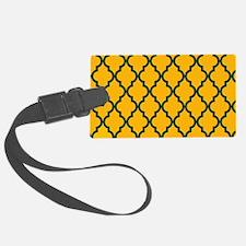 Moroccan Quatrefoil Pattern: Gre Luggage Tag