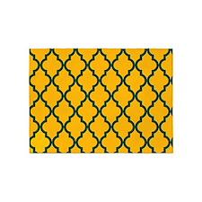 Moroccan Quatrefoil Pattern: Green 5'x7'Area Rug