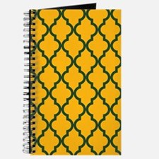 Moroccan Quatrefoil Pattern: Green & Yello Journal